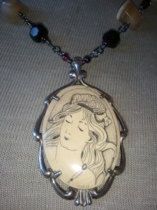 Portrait of Woman, Art Nouveau style