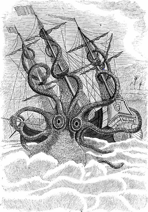 Octopus Shipwreck Drawing Kraken Blog – From S...