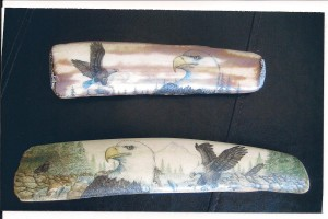 walrus scrimshaw by P. Hayde Eagles
