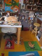Tina White's cozy studio