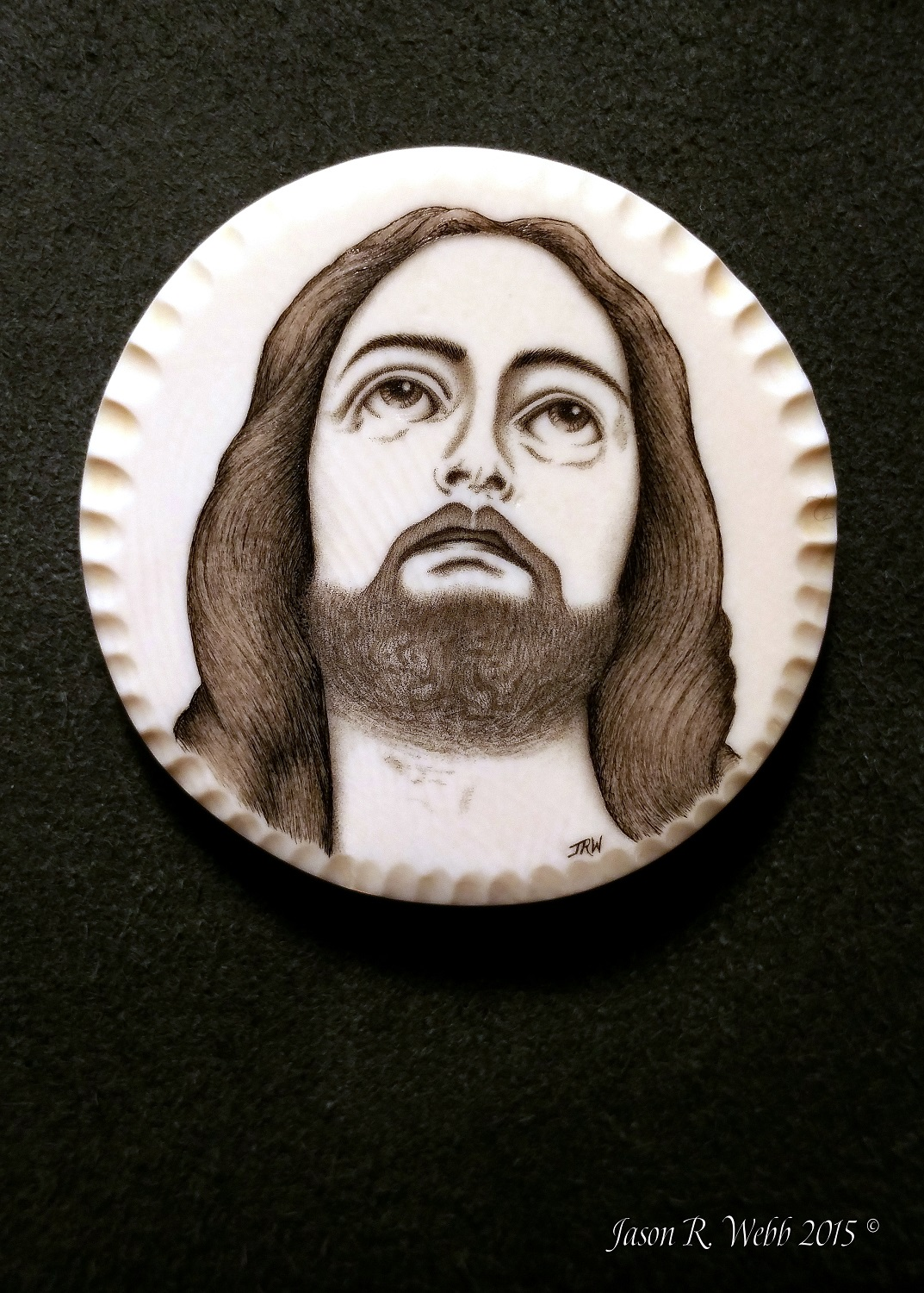 Jesus Christ portrait by Jason R. Webb