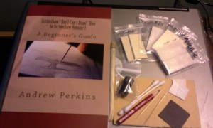 Scrimshaw book and kit