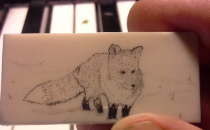 Fox in the snow in progress 2014-06-01