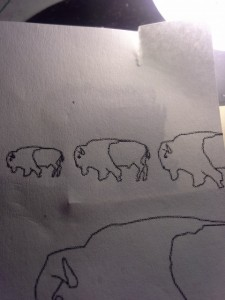 "buffalo template from ""scrimspirations Book 1"""