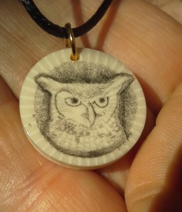 Owl on Casein - finished