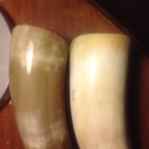 Jason's Horn (left), my horn (right)
