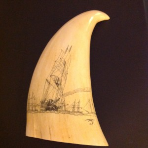 Opposite side of Mystery Artist #20 tooth #2 with the signature 140 and the seagull