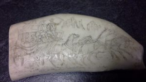 Mystery Artist 26-2 Whale Tooth with stagecoach